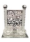 Bougeoirs de Chabbath en cristal